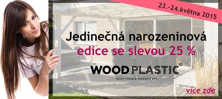erasy WoodPlastic slaví narozeniny - sleva - akce